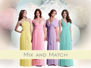 Colour Play – Mismatched Bridesmaids