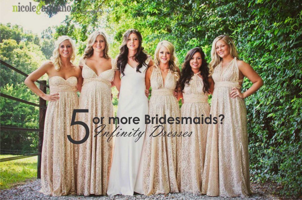 5 or more bridesmaids