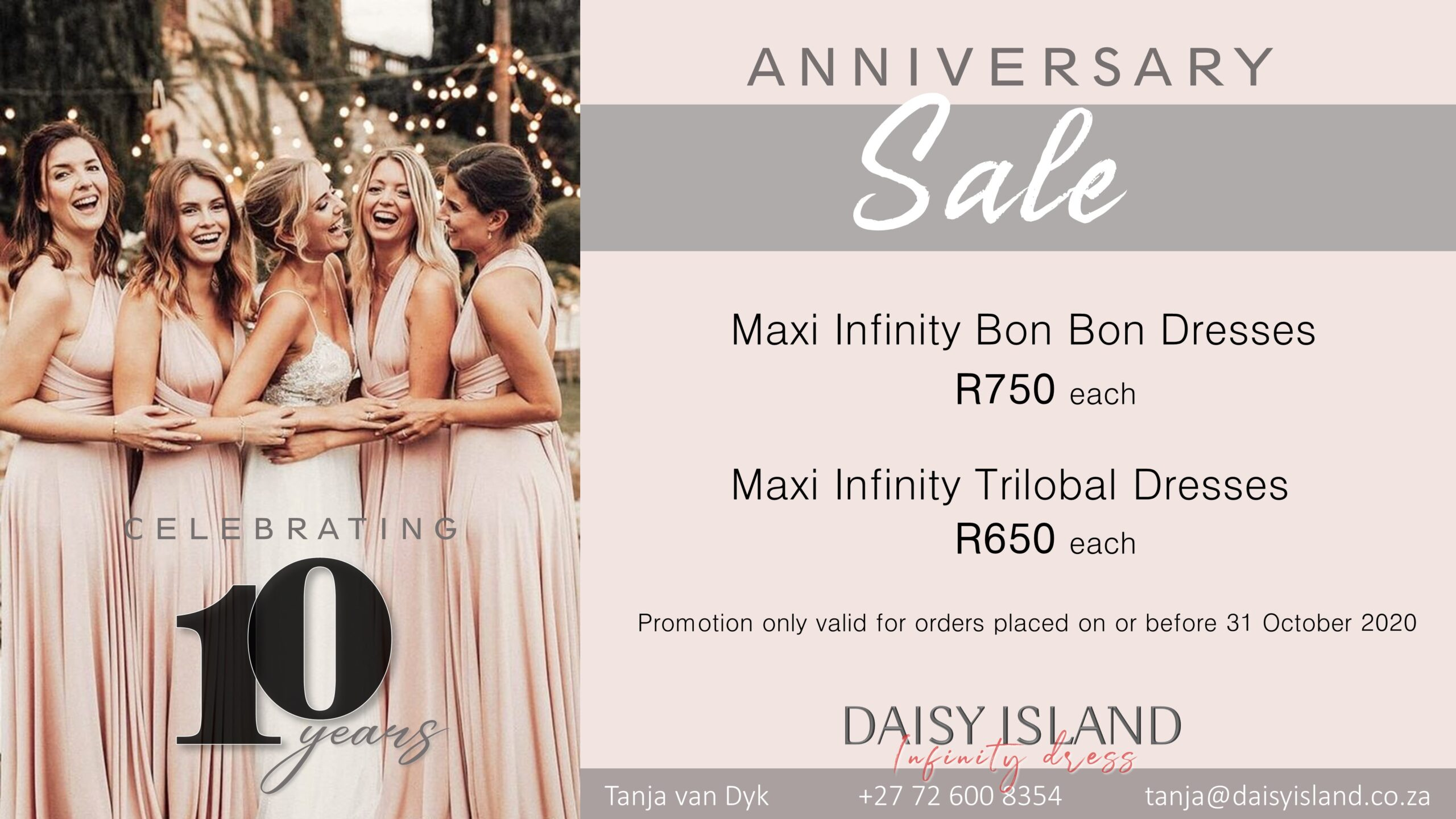 Infinity Dress Anniversary SALE