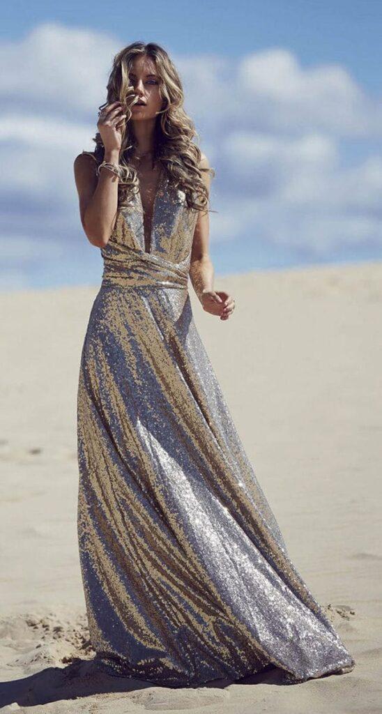 Sequins infinity dress