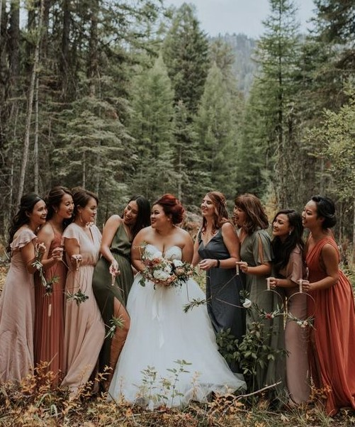 Rustic Bridesmaids