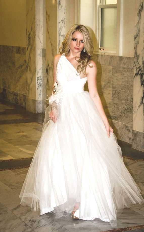 One-Shoulder Infinity Dress